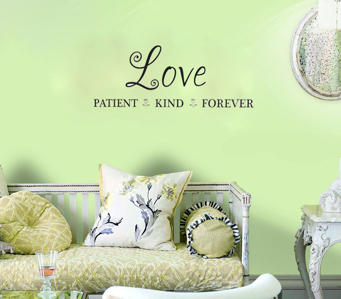 Love Patient, Kind, Forever wall decals vinyl stickers home decor living room decoration wallpaper wall stickers murals