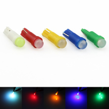 T5 LED Light Car Interior Dashboard Gauge Lamp 12V DC 1 COB LED Wedge Reading Bulb White Yellow Green Blue Red 10pcs