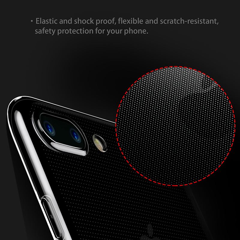 Simple Transparent and Glossy Ultra-Thin Soft Case for iPhone 7 7 Plus (TPU iPhone Case) by Baseus