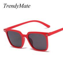 Fashion Brand Designer Vintage Lady Square Sunglasses Women