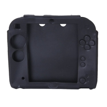 Case Cover Silicone Protective Case for 2DS - Black stylish protective silicone case for 2ds red