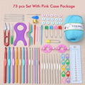 73Pcs Multicolour Metal Hook Needle Set Knitting Needle Set Crochet Full Set Needle Crocheted Sweater Tools DIY Crafts