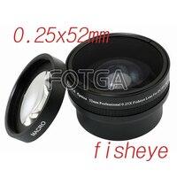 En gros 52mm 0.25X Fisheye Objectif pour Canon Nikon Sony DSLR haute qualité livraison gratuite