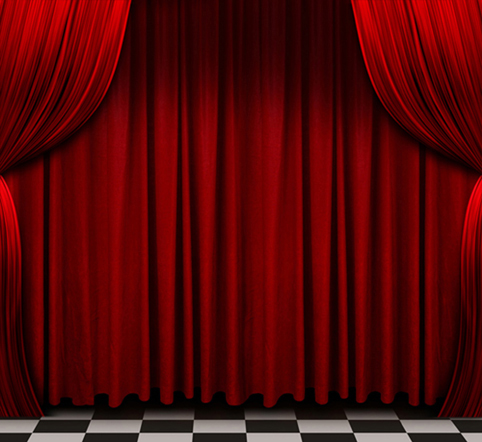 Custom Vinyl Cloth Red Curtain Drama Opera Stage Photography Backdrops For Wedding Party Kids Photo Studio