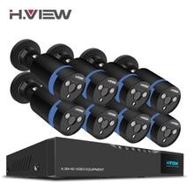 H. вид 16CH системы видеонаблюдения 8 1080 p открытый безопасности Камера 16CH CCTV видеорегистратор комплект видеонаблюдения IP H один Android удаленного просмотра