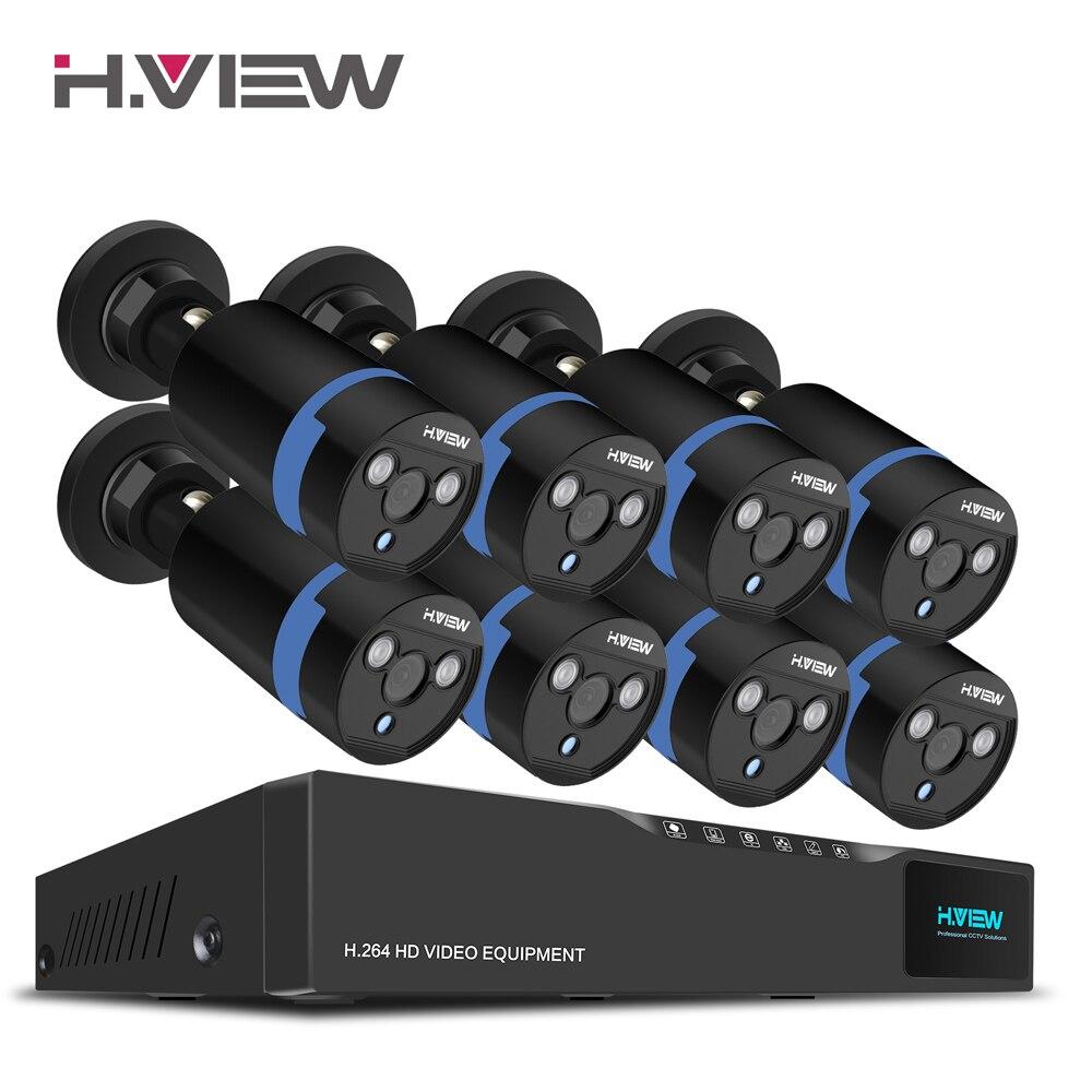 H. vista 16CH Sistemas de vigilancia 8 1080 p seguridad al aire libre 16CH kit dvr cctv videovigilancia iphone android Remote View