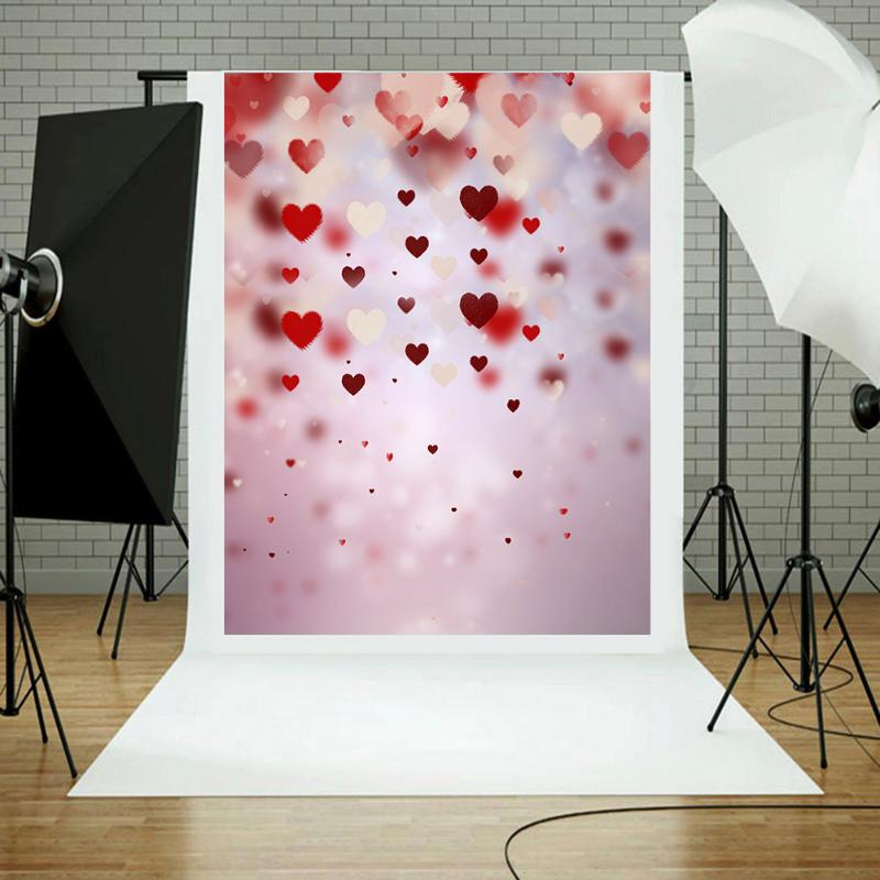 Heart Shape Photography Studio Background Fabric Photo Props Studio Backdrop Decoration Photo Backgrounds 0.9x1.5 m heart shap balloons photography backgrounds scenery photo backdrop for photo studio photographic background fotografia props
