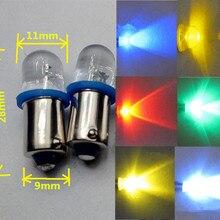 5 шт./лот светодиодный BA9S DC6V светодиодный лампы инструкции Предупреждение метр лампа светодиодный BA9S 6V синий цвет красный, желтый зеленый теплый белый