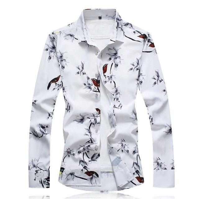 秋男性カジュアルシャツ 2020 新プラスサイズ長袖シャツ男性ファッションスリムフィットカミーサソーシャルmasculinaブランド服 7XL 6XL