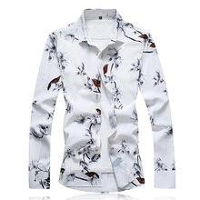 Herfst Mannen Casual Shirt 2020 Nieuwe Plus Size Lange Mouwen Shirt Mannen Mode Slim Fit Camisa Sociale Masculina Merk Kleding 7XL 6XL