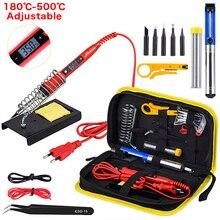 JCD   Kit de fer à souder 220V 80W à température régalble et écran de contrôle LCD