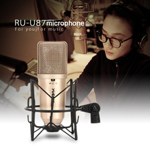 YUEPU U87 Студия конденсаторный микрофон Professional большой диафрагмы Высокая чувствительность для компьютера видео запись Phantom мощность