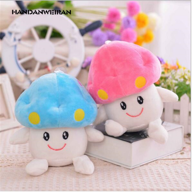 2017 New 13cm Cute mushroom dolls soft plush toy pendants girls dolls birthday gifts