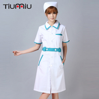 2018 Hospital Nurse Uniform Pharmacy Work Uniforms Long Sleeved New Drugstore Dress SPA Beautician Workwear Women Female Clothes