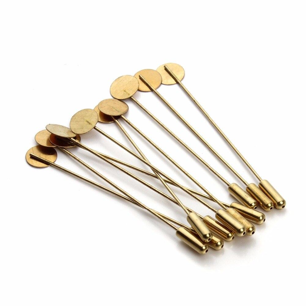 Купить плоская брошь с застежкой 20 шт/лот золотого цвета 75 см/73