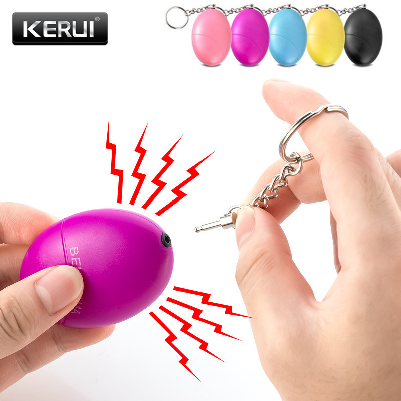 цена KERUI Self Defense Alarm 120dB Egg Shape Girl Women Security Protect Alert Personal Safety Scream Loud Keychain Emergency Alarm