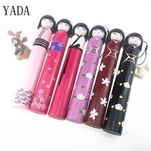 YADA Japanese Kimono Doll Folding Wine Bottle Umbrella Rain Creative UV Mini For Womens Designer Gifts Umbrellas YS396