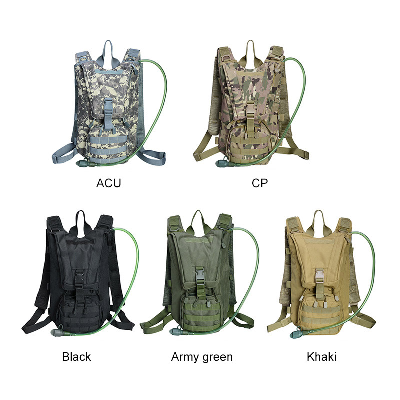 2.5l Water Bag Bladder Hydration Backpack Outdoor Camping Molle Military Tactical Knapsack Cycling Hiking Climbing Sports & Entertainment