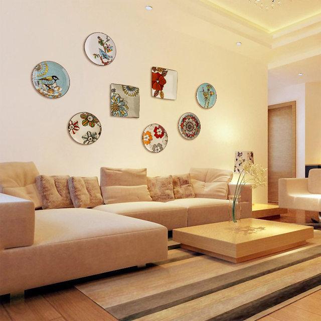 Online Shop Modern creative ceramic mural hanging plate wall ...