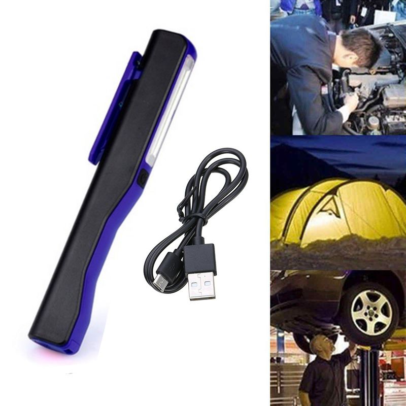 Rechargeable LED COB Portable Camping Work Inspection Light Lamp Hand Torch Magnetic Torch For Household Workshop Automobile Cam