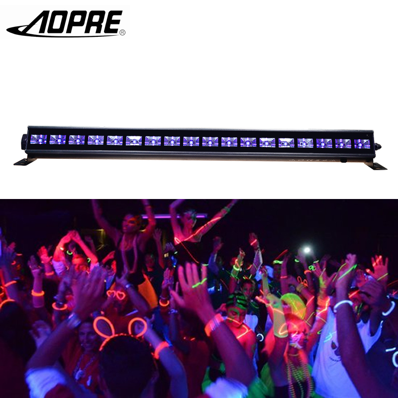 AOPRE UV LED Bar Wall Washer Lamp Purple LED Bar Party Disco UV Club Light For Landscape Wash Wall Stage Lighting Effect Lights 9ledx3w uv wall washer led stage bar light for outdoor indoor decoration
