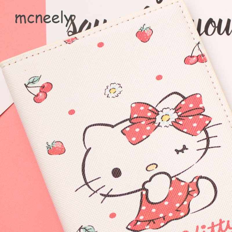 8d38b914a ... Cute HELLO KITTY Women Travel Passport Cover Wallet Travelus  Multifunction Credit Card Package ID Holder Plane ...