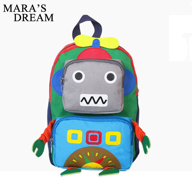 Mara's Dream Kids Backpack Robot Cute High Quality School Bags ...
