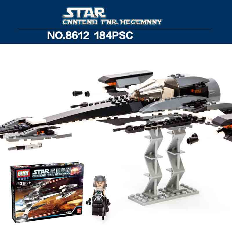 GUDI 8612 Model Building blocks Fighter Spaceship War Chariot Star Wars Accessory DIY Toys Set For Children military star wars spaceship aircraft carrier helicopter tank war diy building blocks sets educational kids toys gifts legolieds
