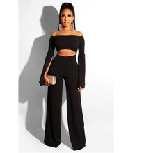 Slim Sexy Word Shoulder Jumpsuit 2019 New Best Selling Solid Color Sexy Strapless Backless Zipper Back Tights Jumpsuit Trousers(China)