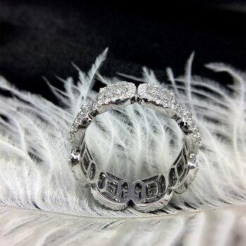 Solid 18K White Gold Full Eternity Wedding Band  2