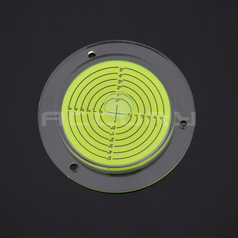 HACCURY Size 100*15mm Color Yellow Universal level Acrylic Round bubble level Construction Machinery water level indicator