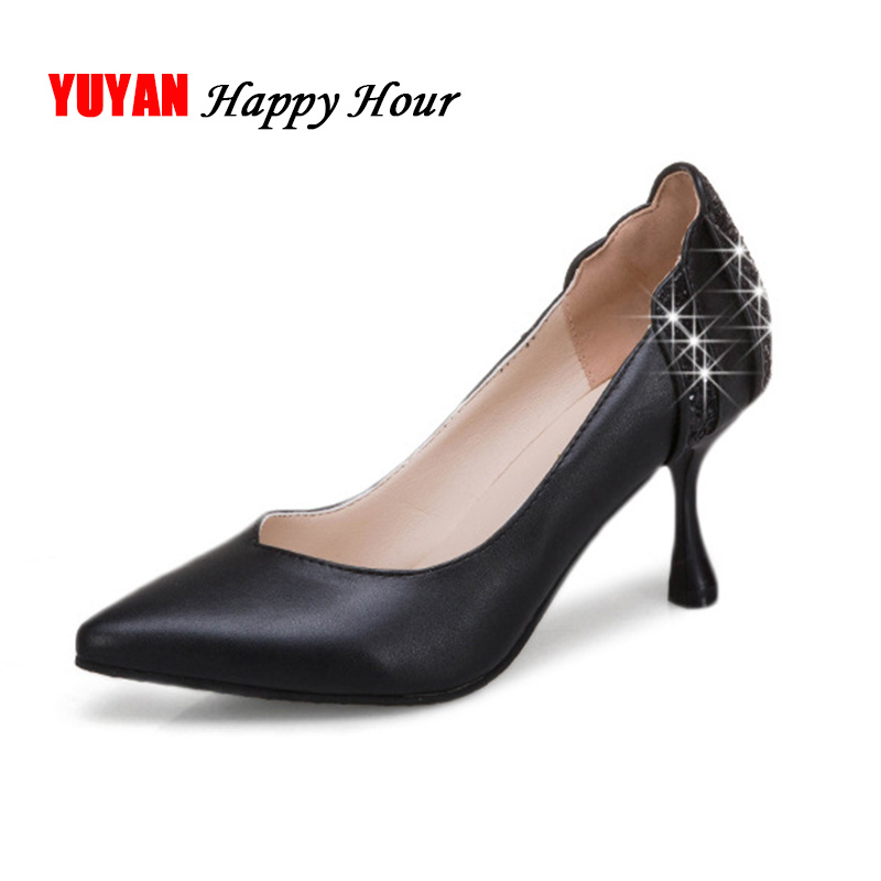 Sexy High Heels Thin Heel 7cm Fashion Women Heels Wedding Shoes Pointed toe Womens Pumps Black White Pink A378 недорго, оригинальная цена