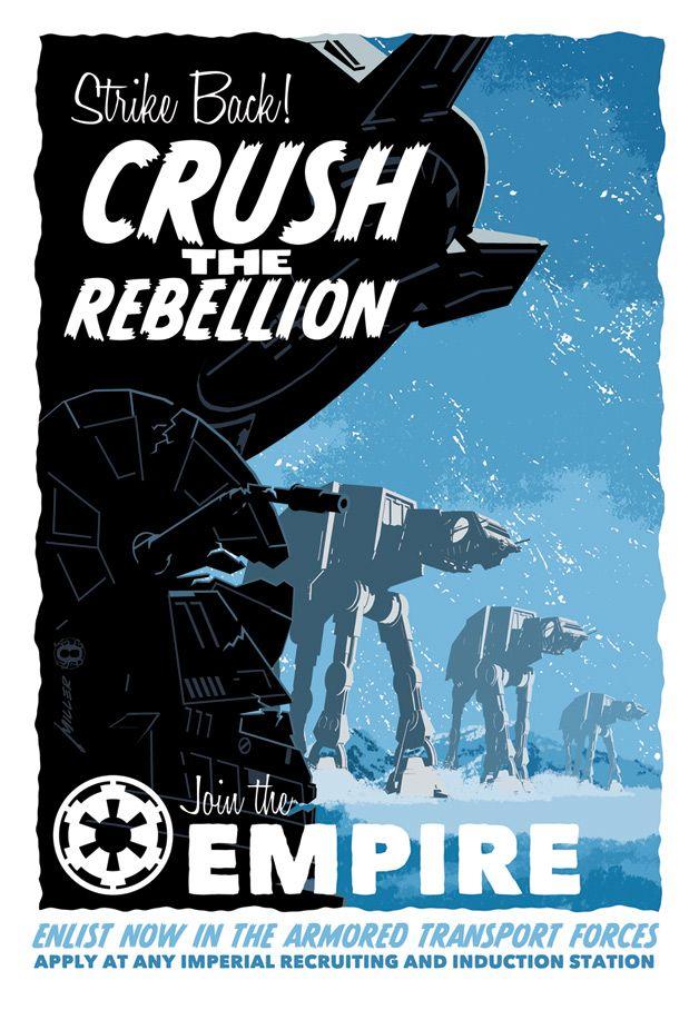 Vintage Sci Fi Movie Collection Crush The Rebellion Poster Retro