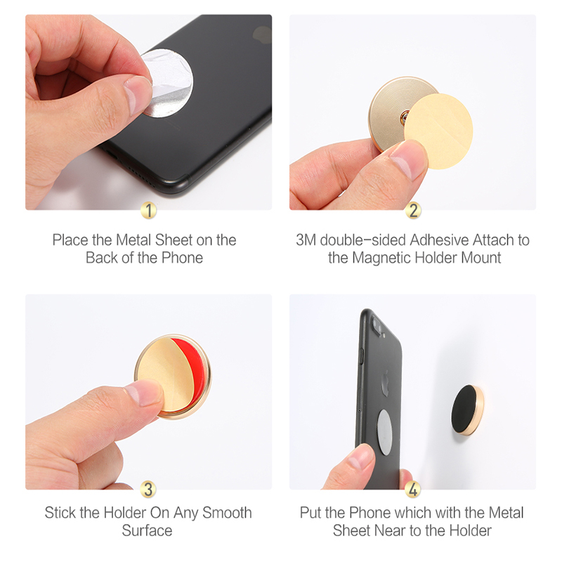 Mobile Phone Holders & Stands Smart Magnetic Car Phone Holder Universal Wall Desk Metal Magnet Sticker Mobile Stand Phone Holder Car Mount Support For Iphone X 7 Xs