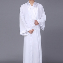2019 new hanfu clothes chinese folk dance ancient chinese costume men stage performance outfit servant suit