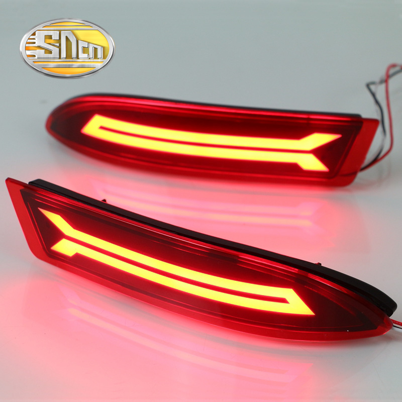 For Toyota Avanza 2015 2016 2017 SNCN Multi-function Car LED Tail Light Rear Fog Lamp Bumper Light Auto Brake Light Reflector new for toyota altis corolla 2014 led rear bumper light brake light reflector novel design top quality fast shipping