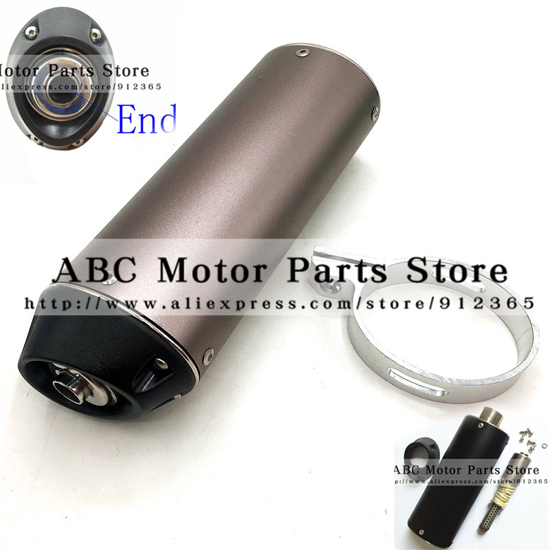 Pit Bike 38mm Exhaust Muffler with movable silencer Black dirt bike detuner Chinese motorcross motorcycle Kayo