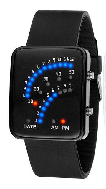 Hot Sale Atmos Clock Led Binary Watch Fashion Men's Watches military Watch Casua