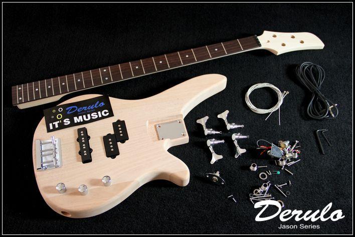 DIY Électrique Basse Guitare Kit Boulonné En Acajou Massif Corps MX-030