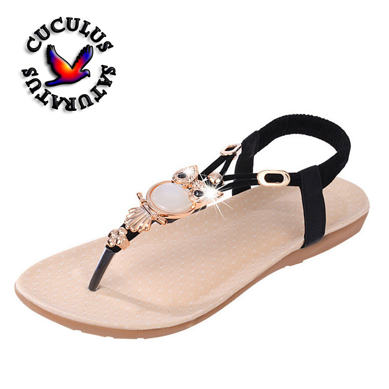 Cuculus New Fashion 2018 Casual Women Sandals Comfort Summer shoes Classic Rhinestone Flat Sandslias Feminina 199 konkord classic comfort 140x195x18