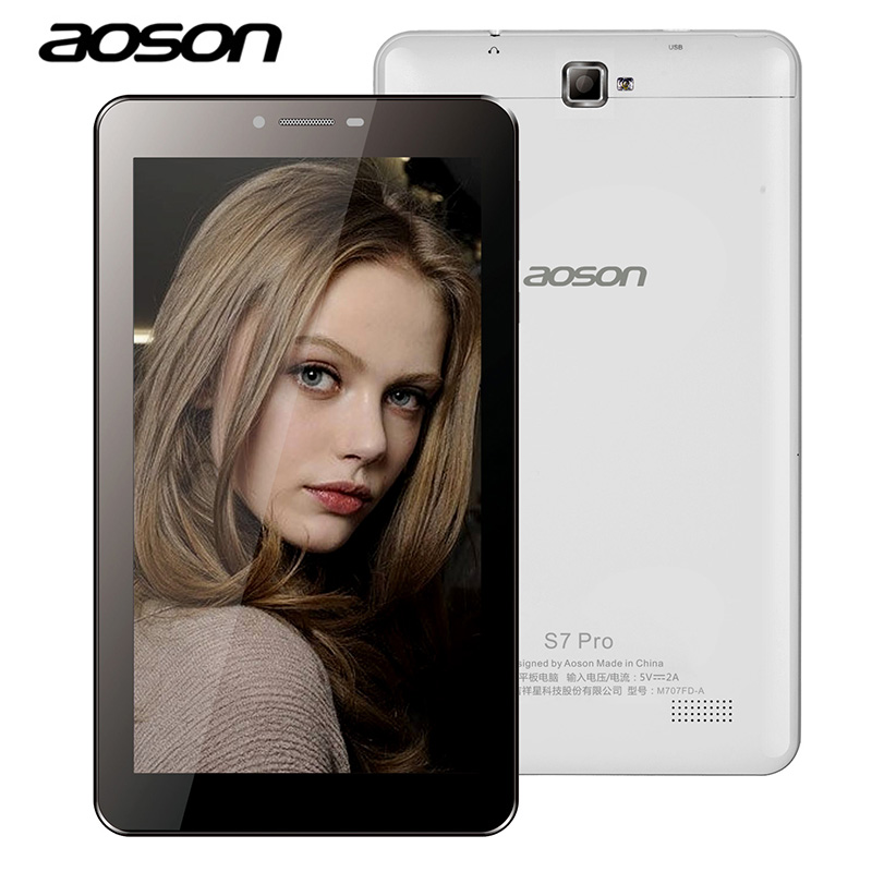 Aoson S7 PRO 7 inch 3G 4G LTE-FDD Phablet 1GB 8GB HD IPS Android 6.0 Phone Call Tablets PC Dual Camera Bluetooth wifi 1024*600 maze alpha 4g phablet