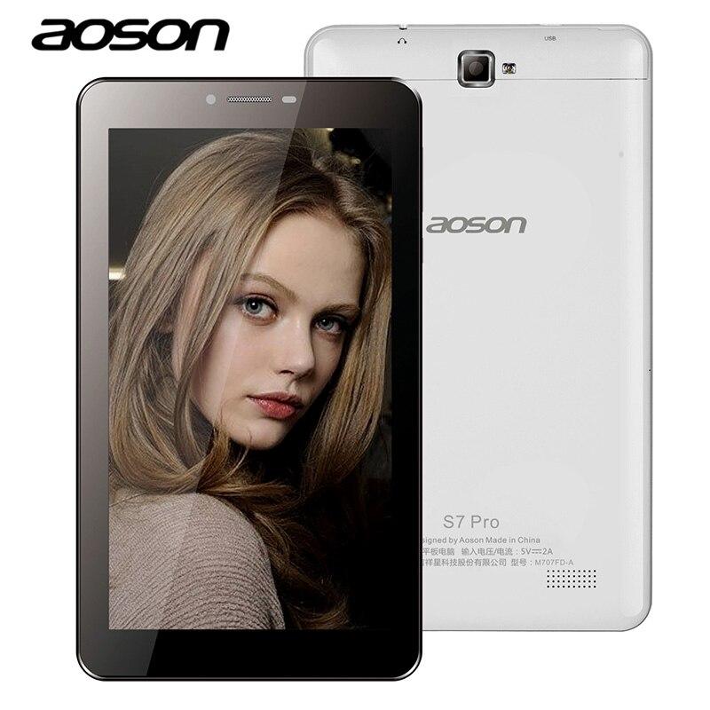 Aoson S7 PRO 7 inch4G Phablet 1 gb + 8/16 gb Android 6.0 Appel Téléphonique Comprimés PC Double caméra Bluetooth wifi Blanc Noir 7.8.10 comprimés
