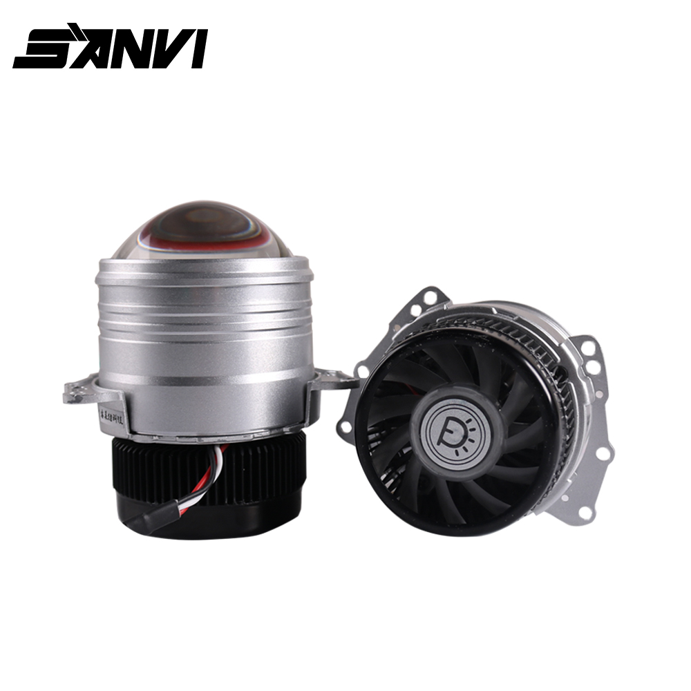 Sanvi 2pc Z1 3inch Bi LED Projector Lens Headlight 42W 5000K Auto LED Projector Headlight For