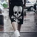M~3XL! New 2016 Men's clothing skull low-rise loose pants capris personalized novelty capris half pants costumes