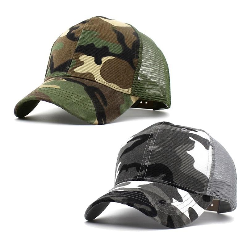 1 Stück 2018 Schnee Camo Baseball Caps Männer Sommer Mesh Cap Camouflage Hut Für Männer Frauen Hohe Qualität Sommer Dad Hut Caps