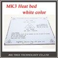 Новый! Белый цвет 3d-принтер Heatbed подогревом кровать MK3 стандартные алюминиевые пластины 3 мм очаг Reprap бесплатная доставка