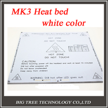 NEW! White Color 3D Printer Heatbed Heated bed MK3 Standard Aluminum Plate 3mm Hot Bed Reprap Free Shipping!