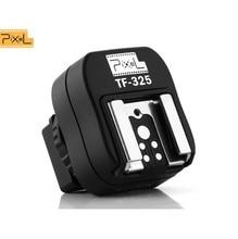 2015 promotie nieuwe pixel tf 325 flitsschoen adapter converter om pc sync socket voor sony alpha minolta konica als fs 1100 FS1100