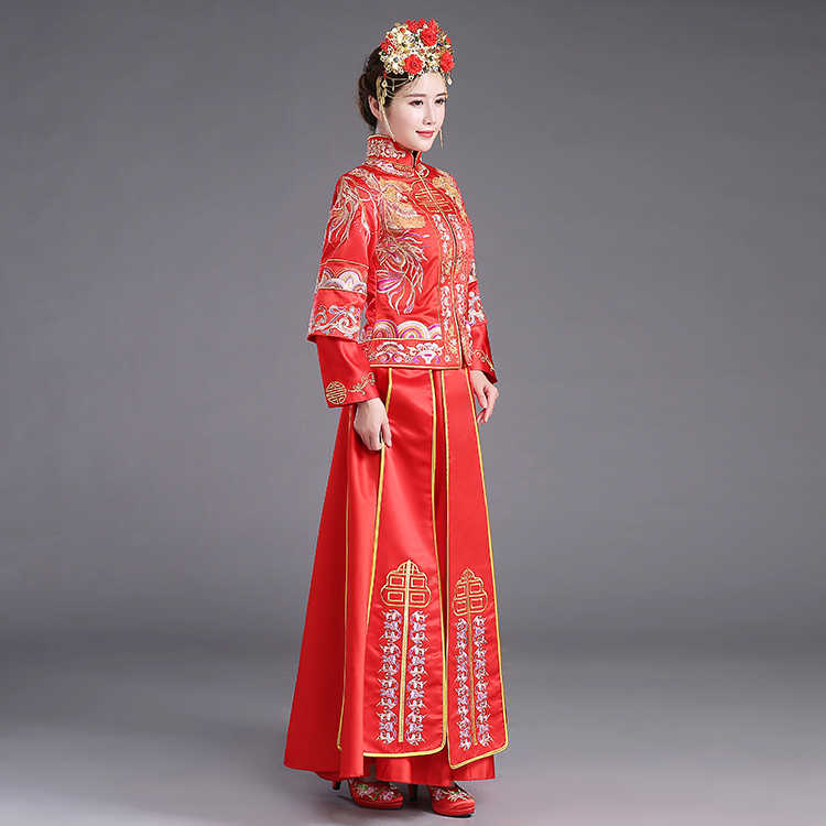 7fb01b3cf ... ZZB015 Chinese Couple Style Wedding Groom Tunic Red Dress Long Robe  Gown Traditional Chinese Wedding Dress ...