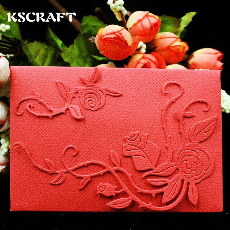 Kscraft Rose Envelope Metal Die Cutting Dies Scrapbooking
